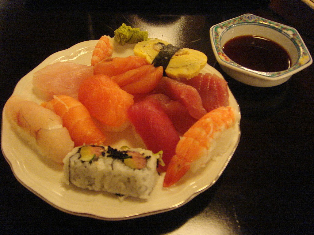 First round of sushi and sashimi, more to follow...