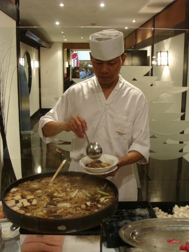 The sukiyaki disappointed however...