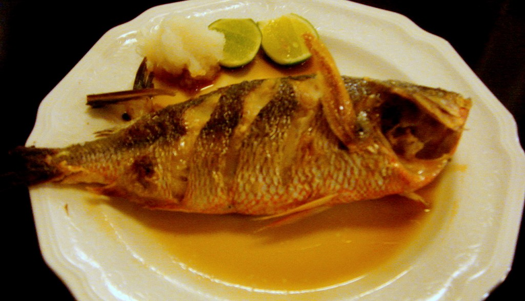 Grilled fish cooked fresh on the spot