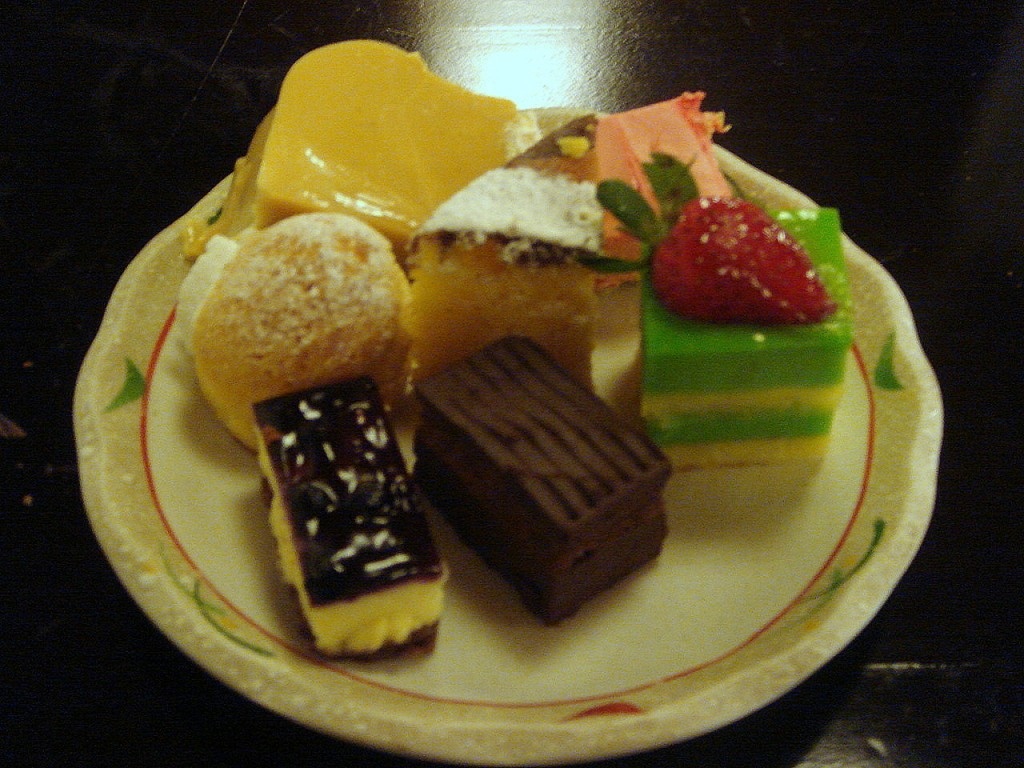 A small sample of the dessert selection