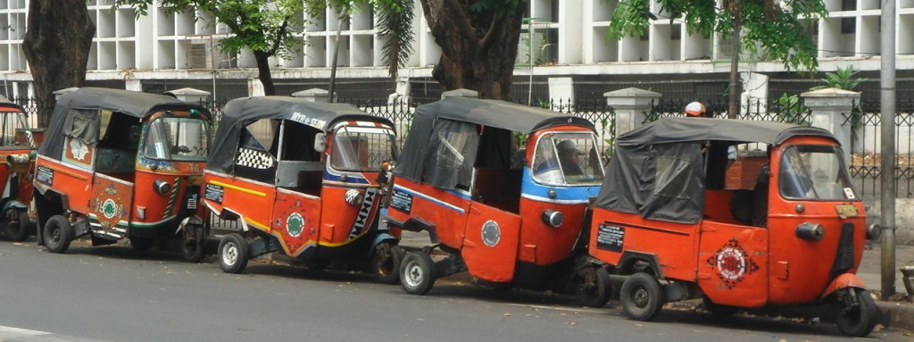 Common form of Jakartan transportation, the Bajai (auto rickshaw)