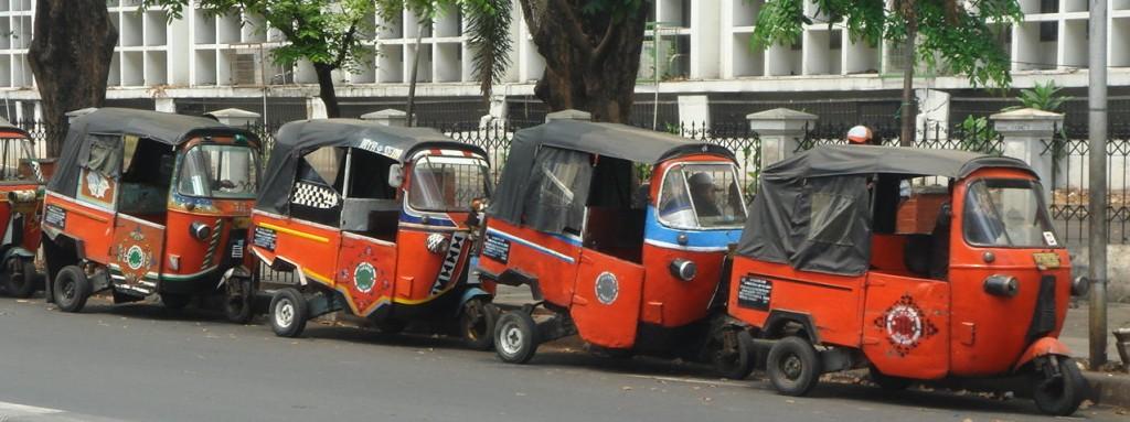 Common form of Jakartan transportation, the Bajai (auto rickshaw)