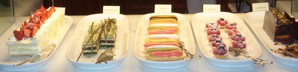 A range of western desserts
