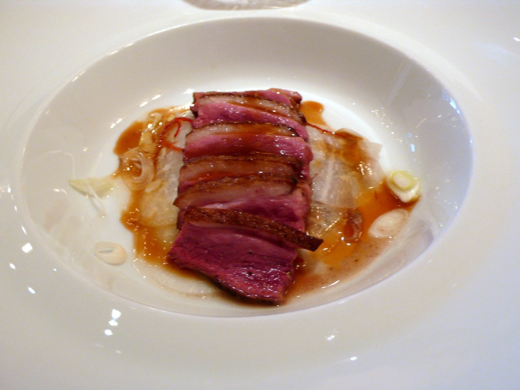 Roasted duck breast and duck confit