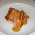 Duck with walnut sauce