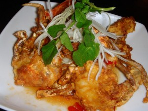 Soft shell crab with 'original' (chilli) sauce
