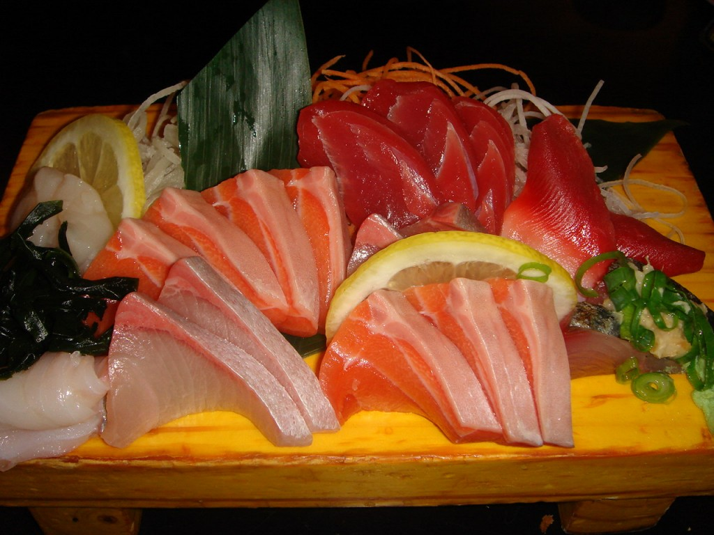 Fresh sashimi selection