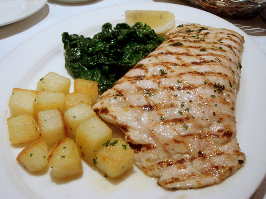Chargrilled chicken paillarde