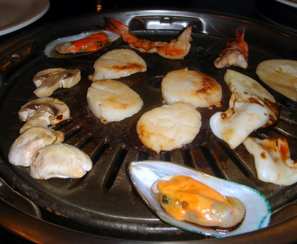 Seafood BBQ cooked from frozen