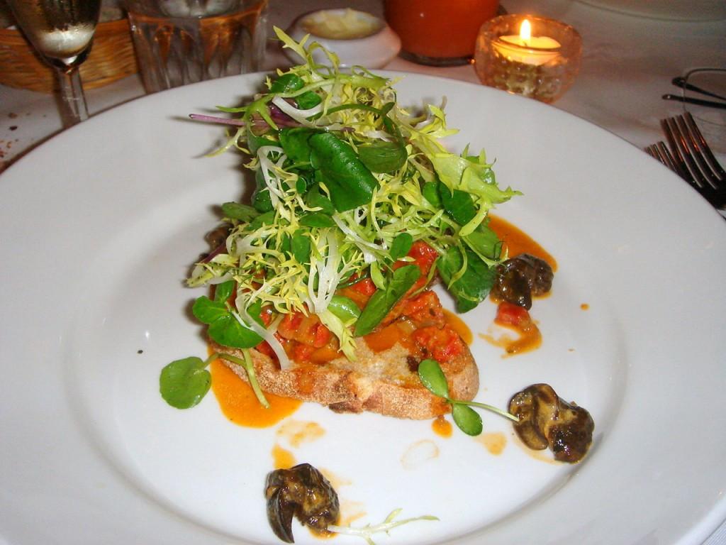 Snail and chorizo fricassee