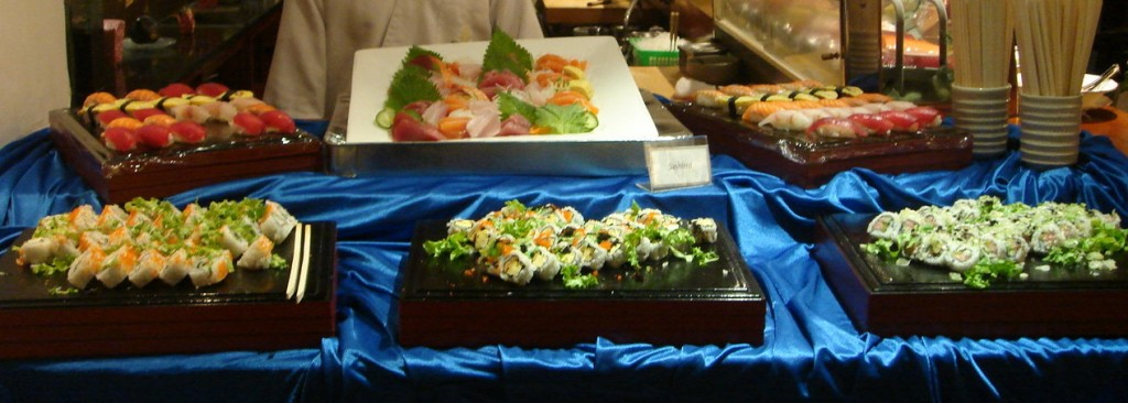 Sashimi and sushi selection