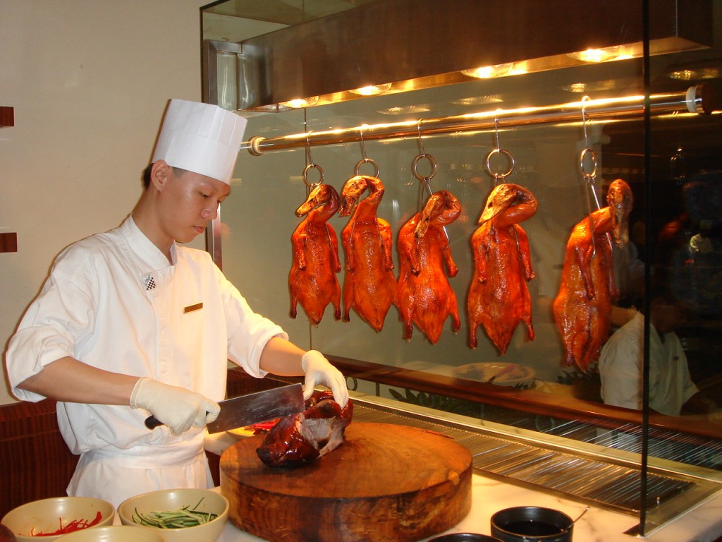 Peking duck looked good, but missed the mark