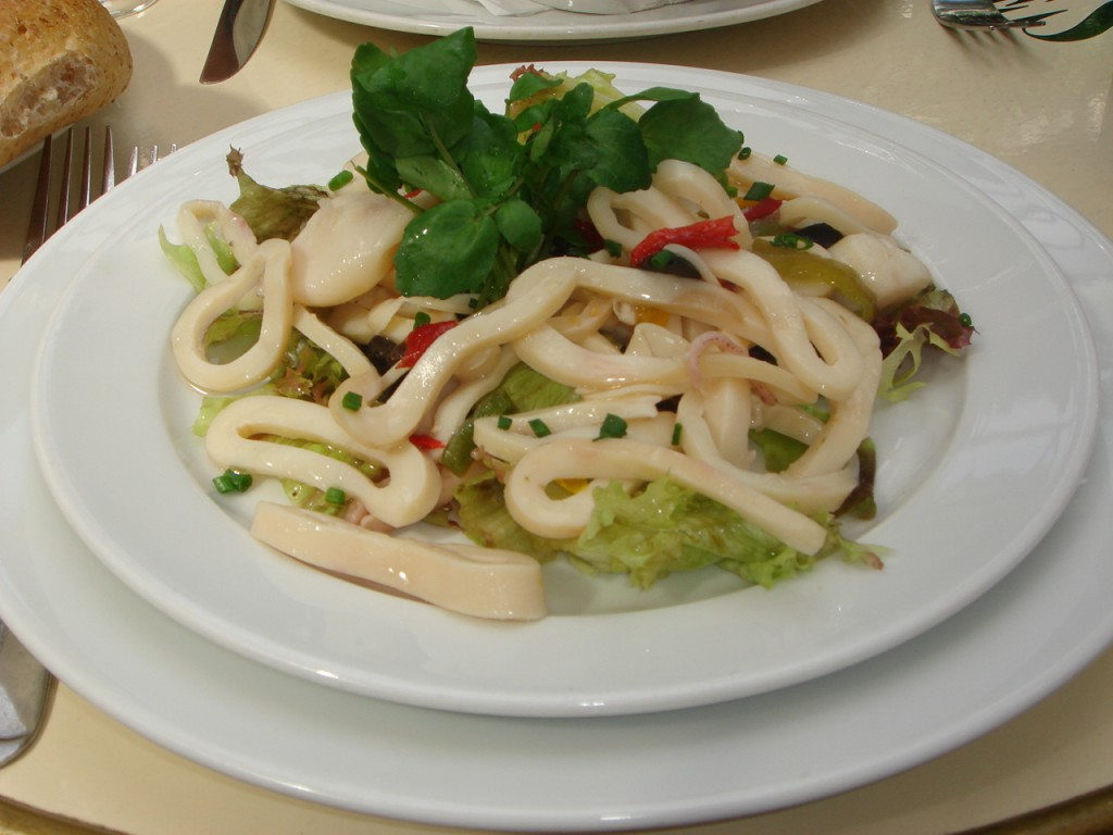 Calamari and octopus salad