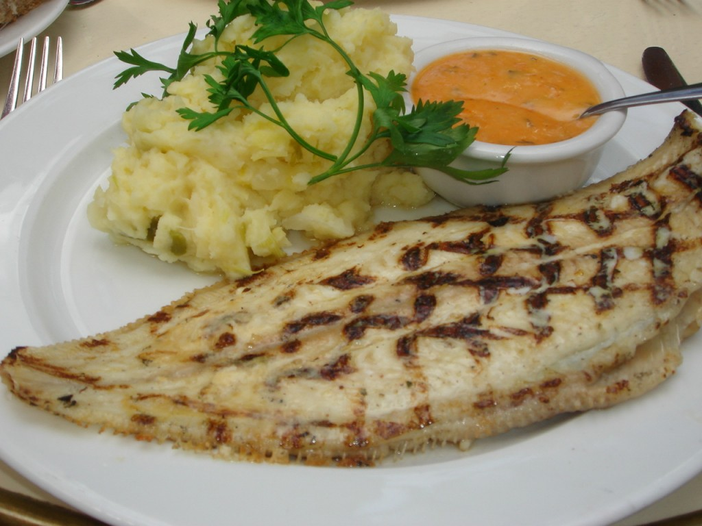 Sole with choron sauce