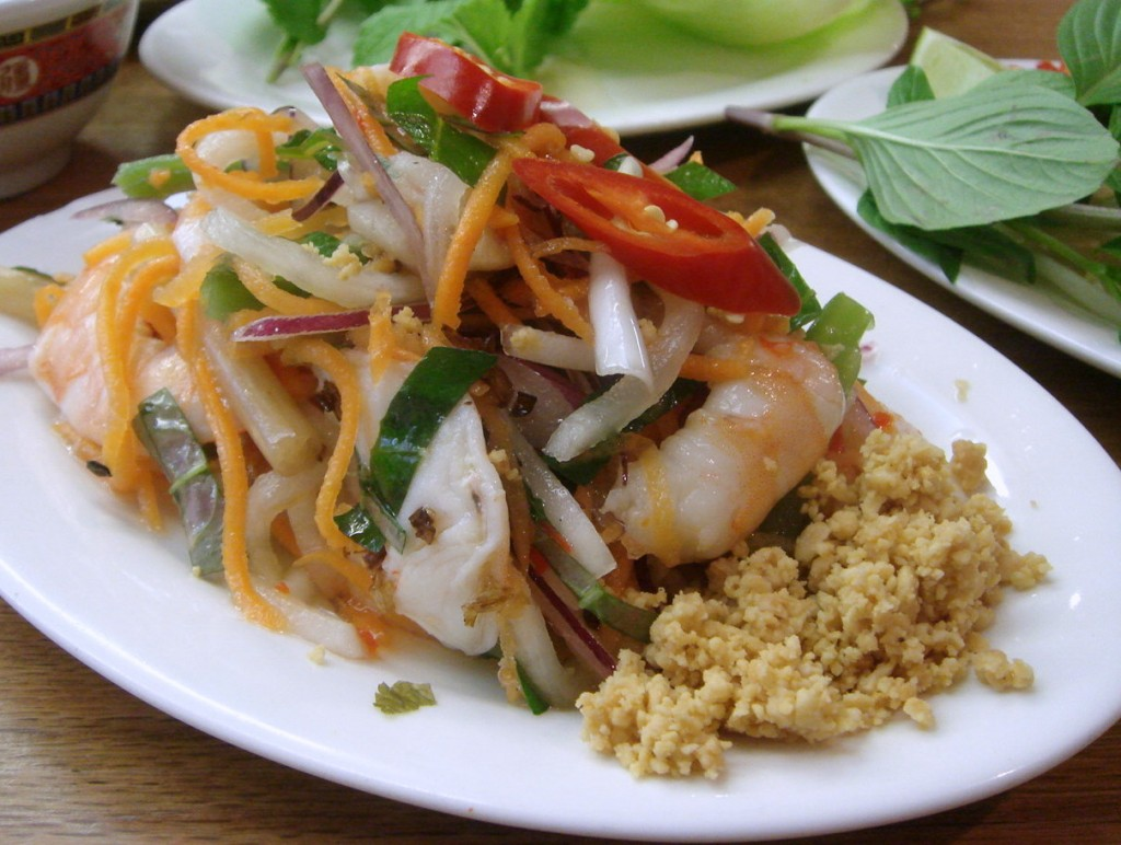 Goi, Vietnamese prawn salad at Viet Noodle Bar