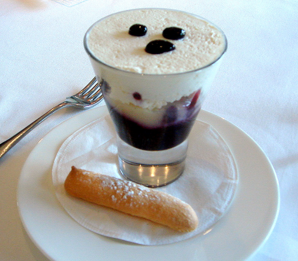 Blackberry and sherry trifle