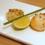 Scallops with green chilli & garlic