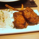 Lamb chops with ginger & Kashmiri chilli