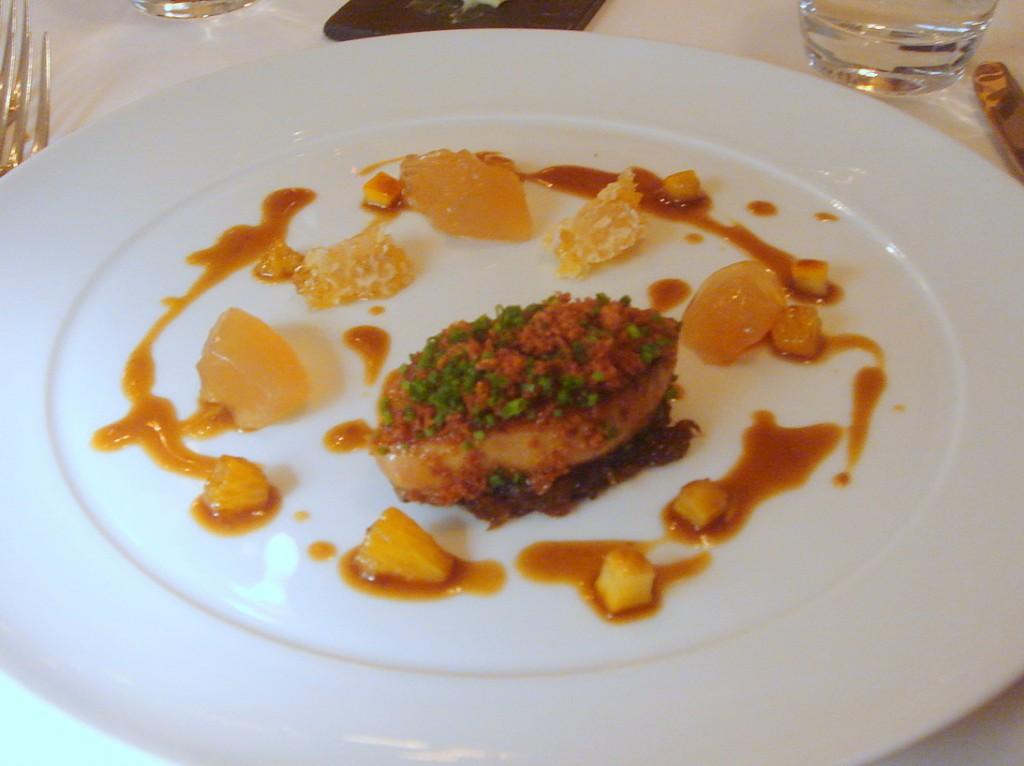Foie gras, confit oranges & honeycomb