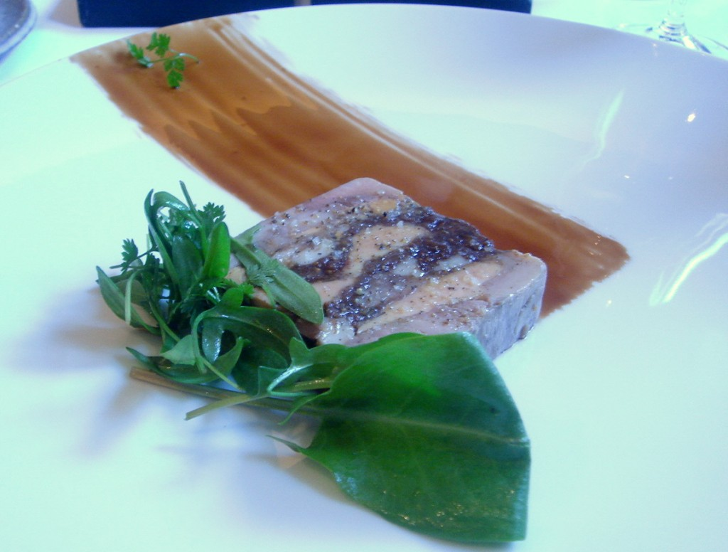 Foie gras and partridge terrine