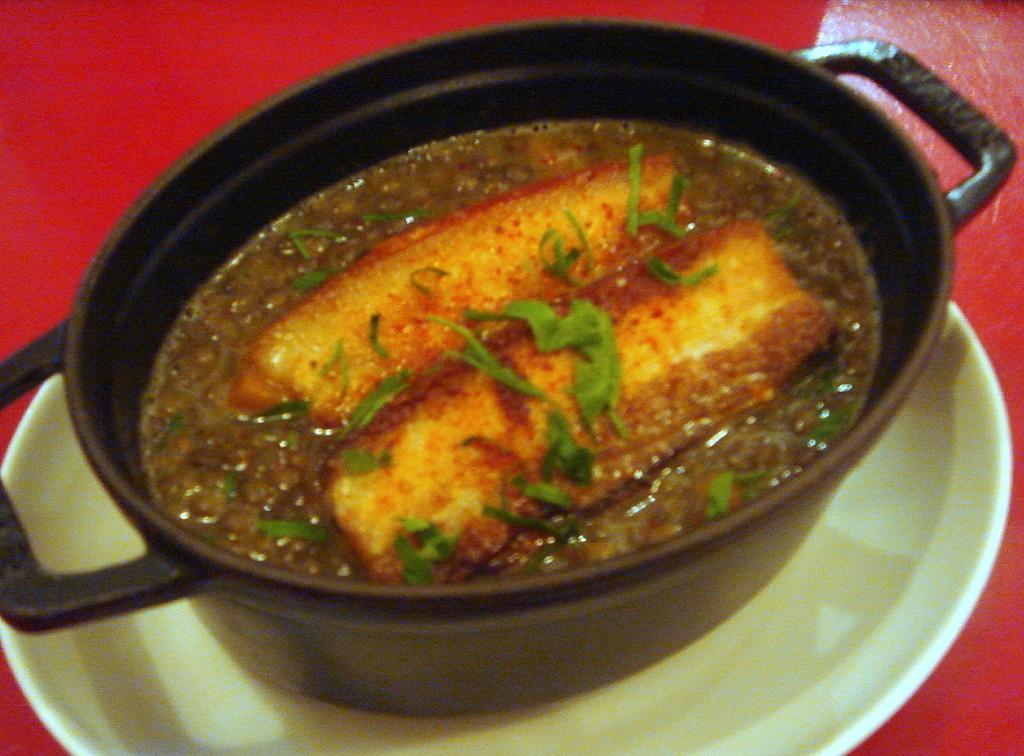 Suffolk pork belly, puy lentils & root vegetables