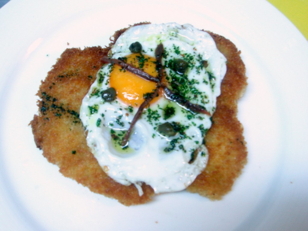 Chicken escalope holstein