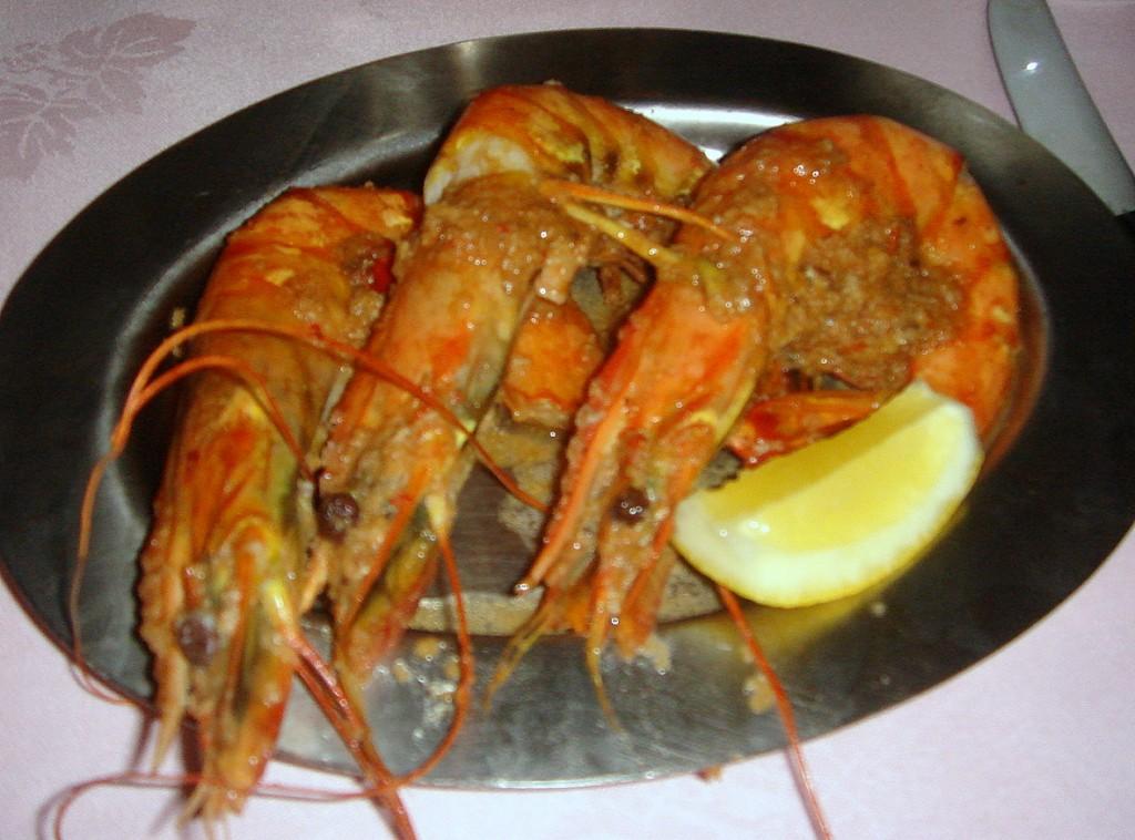 Giant spicy shrimps