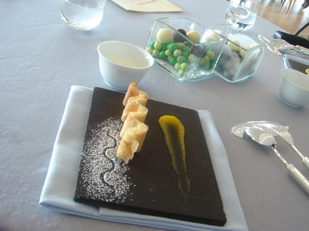 Dessert of potato cream