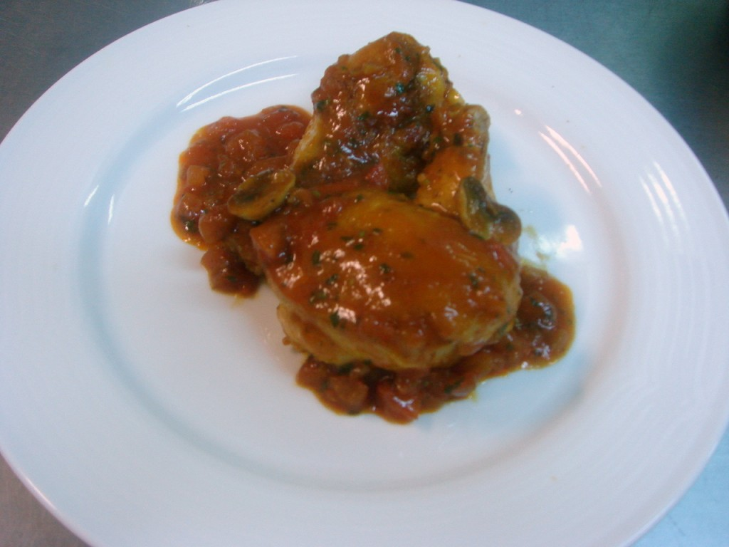 Chicken saute chasseur