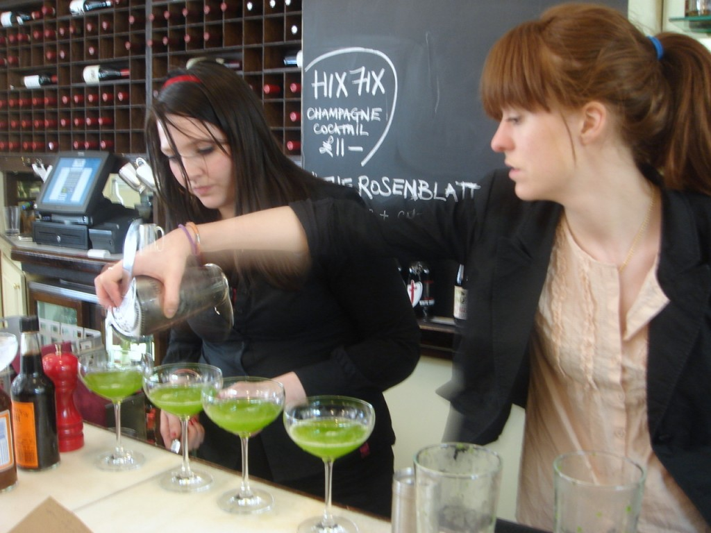 The making of the pea-tini