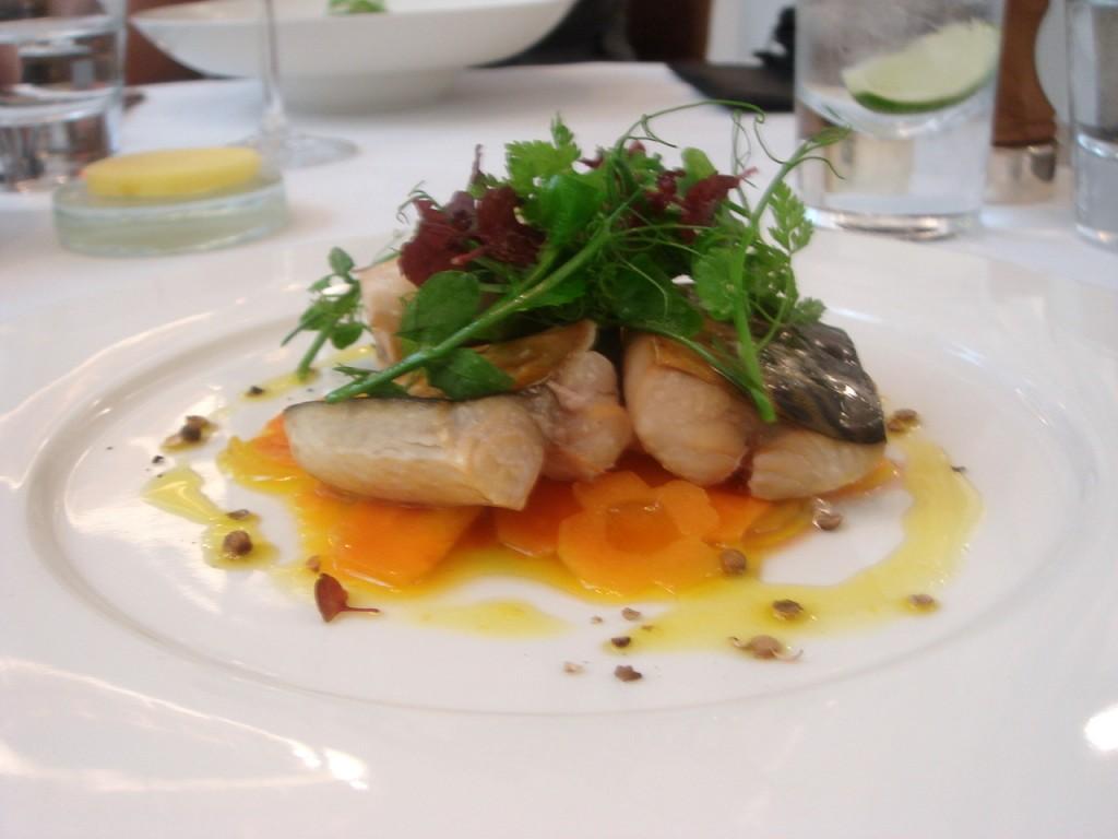 Smoked mackerel escabeche