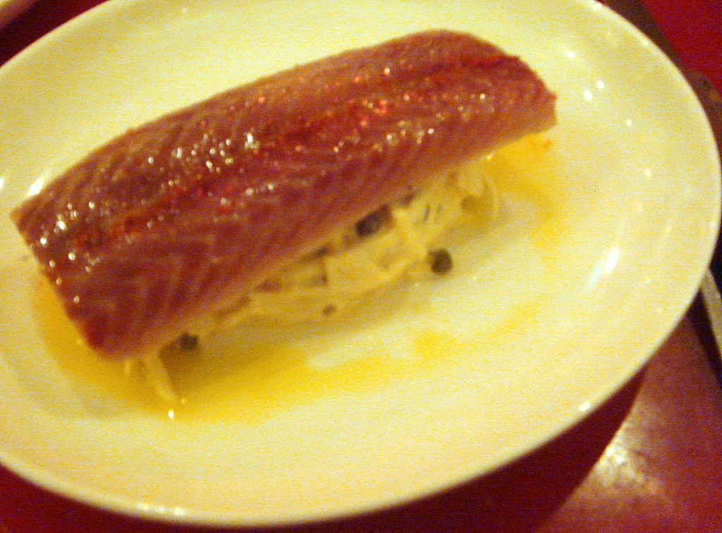Smoked eel with celeriac rmoulade