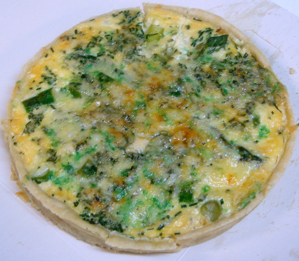 Leek, asparagus & blue cheese tart