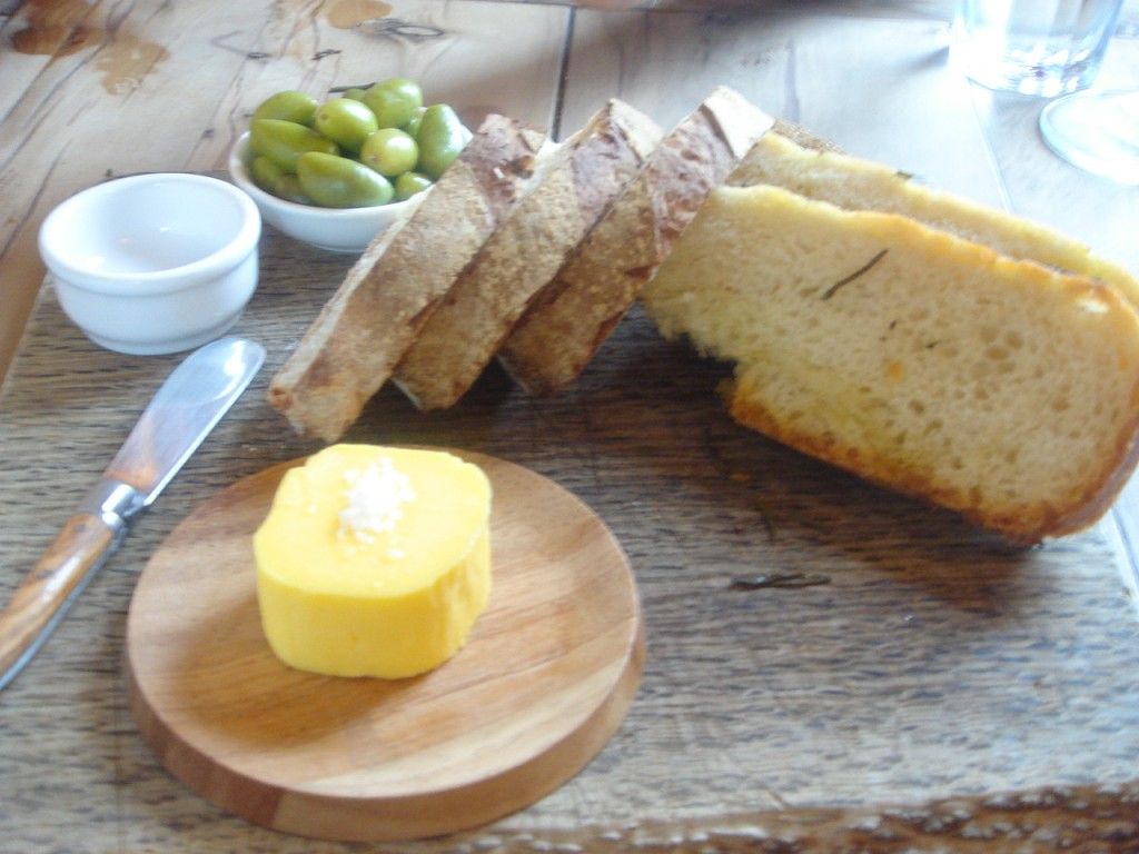 Homemade bread & home churned butter