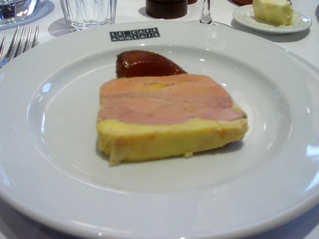 Foie gras terrine with Pedro Ximénez jelly