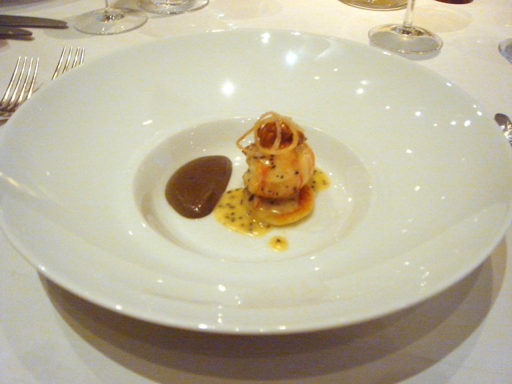 Sautéed langoustine tail with parmesan gnocchi