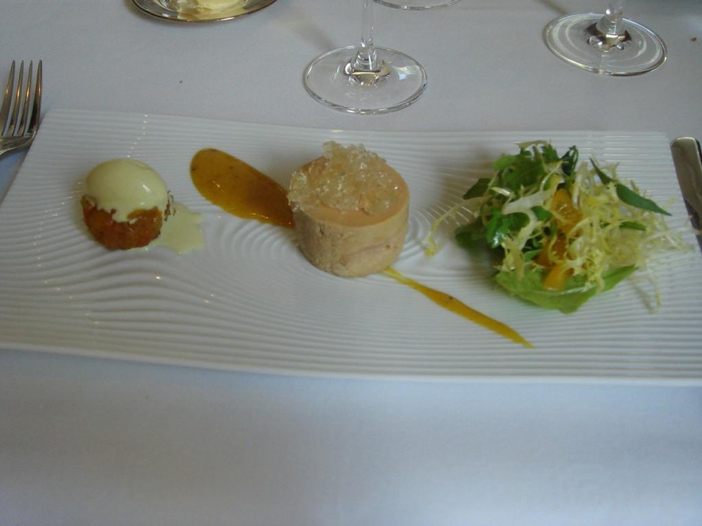 Ballotine of Landes foie gras, petit salad & toasted brioche