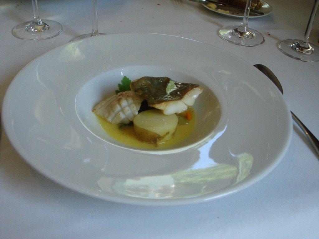 John Dory, braised cuttlefish, barigoule vegetables