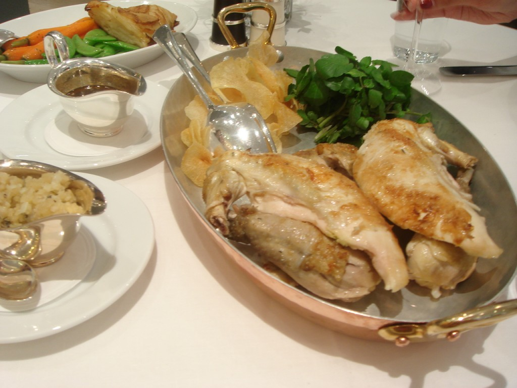 Roast Landes chicken