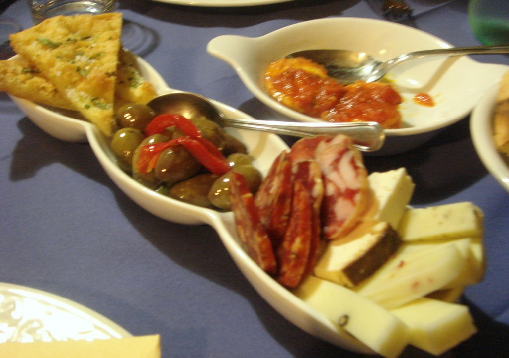 Selection of antipasti