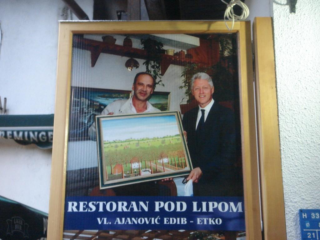 Bill Clinton & restaurant owner