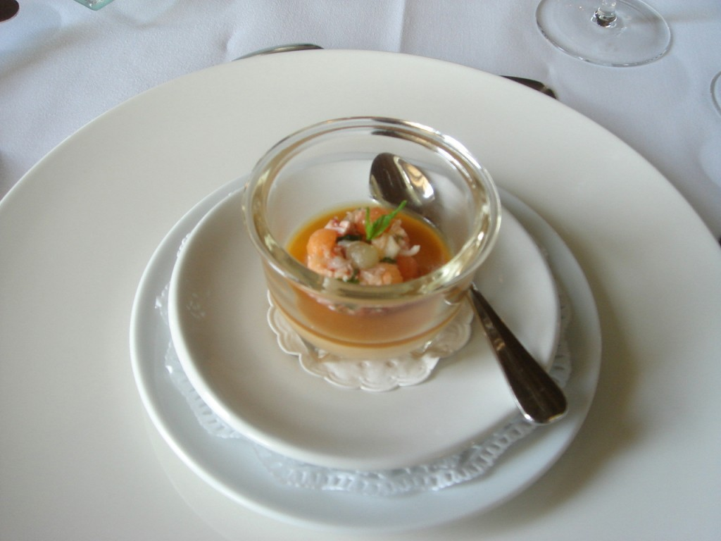Lobster salad & lobster mousse