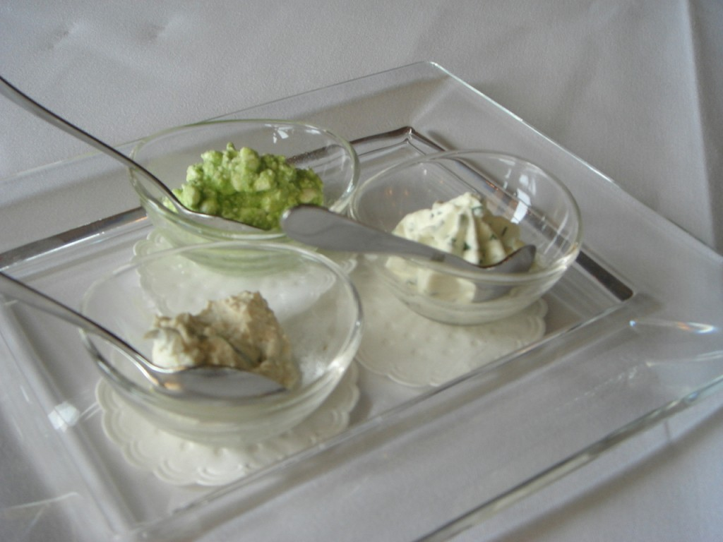Dips to accompany the breads