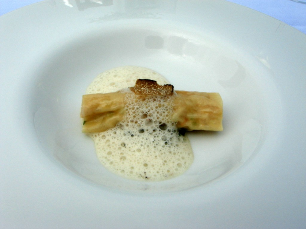 The 2nd starter of guinea fowl & summer truffle