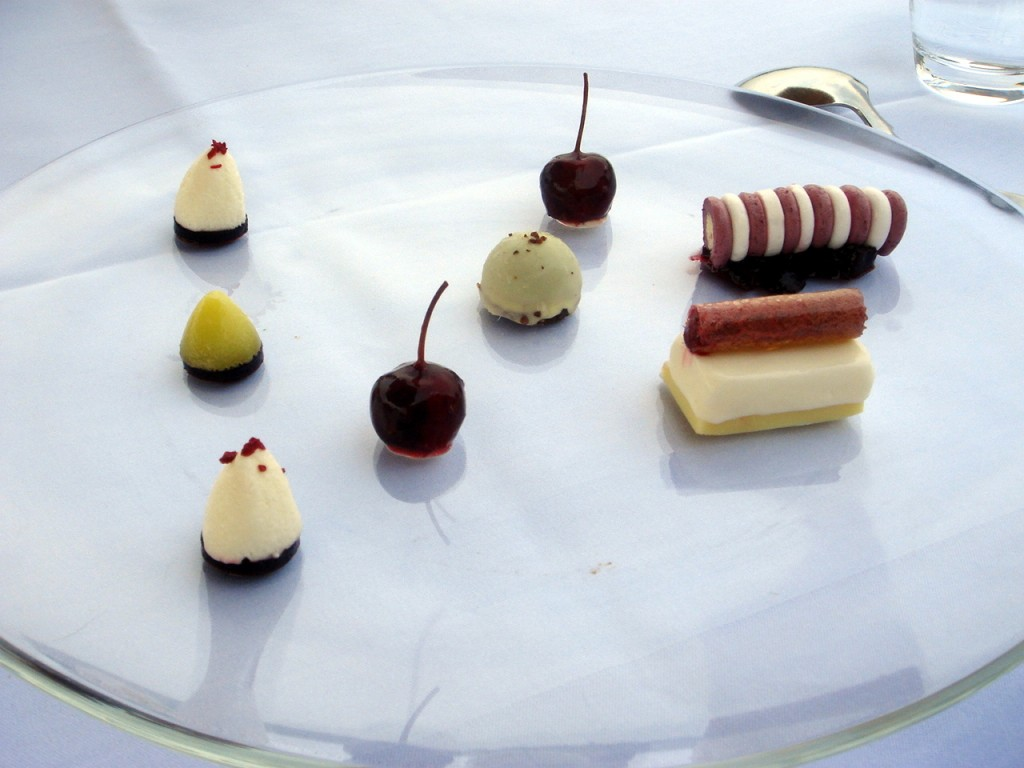 Chocolate & cherry dessert