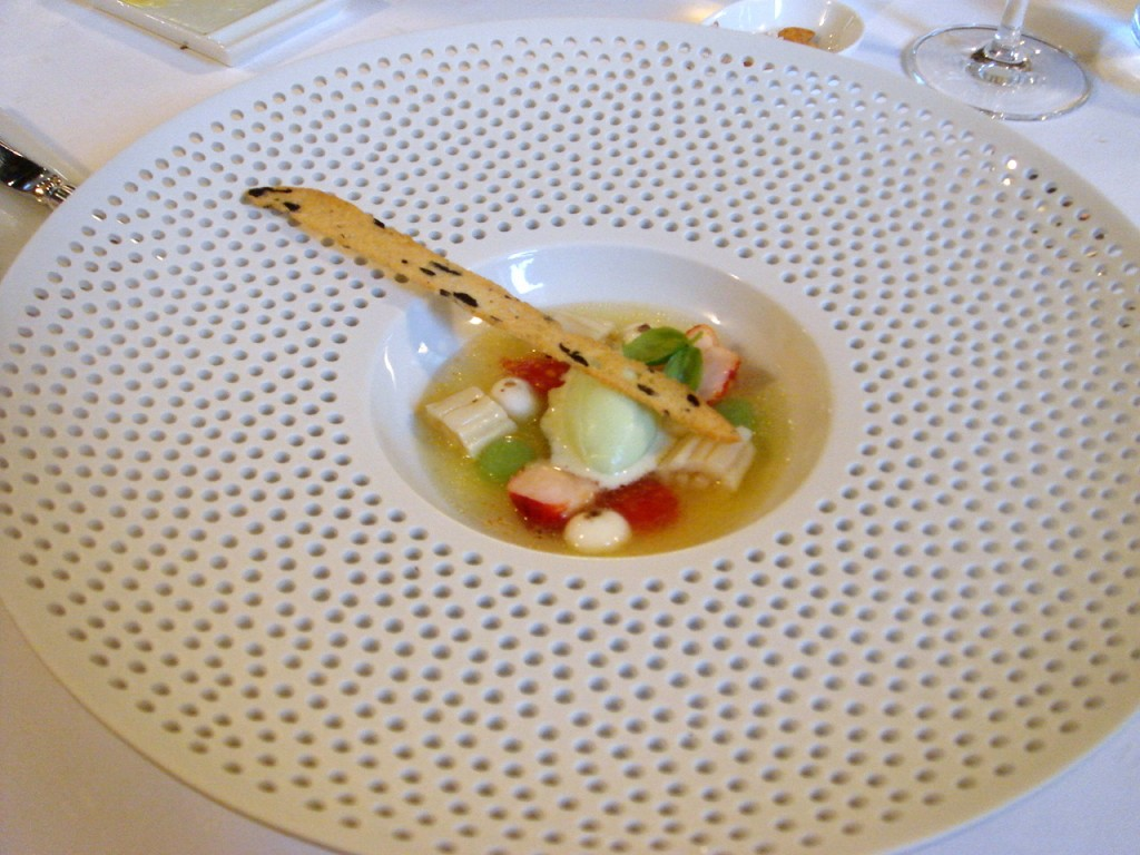Gazpacho with sea cucumber