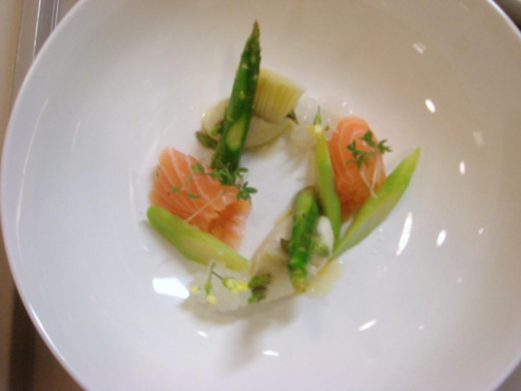 Salmon, artichoke & asparagus