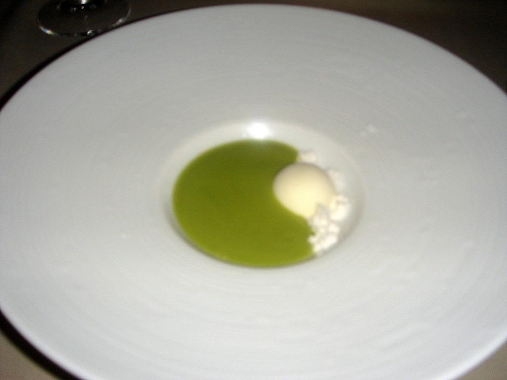 Gazpacho with olive oil powder & sorbet