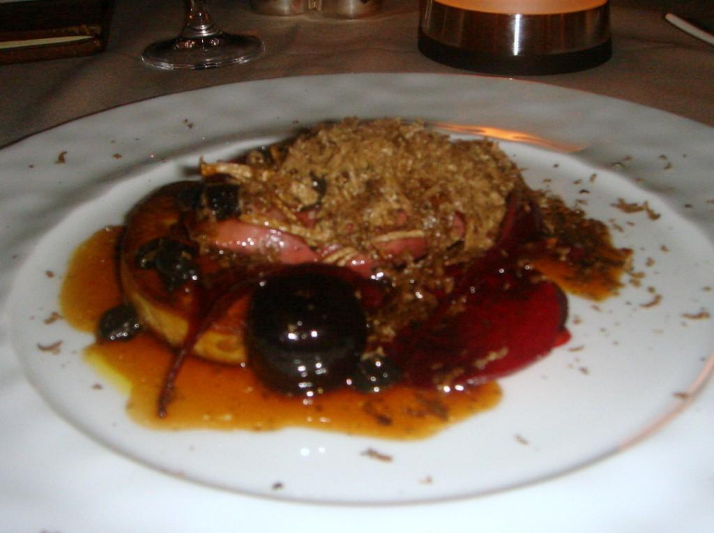 Pigeon with foie gras