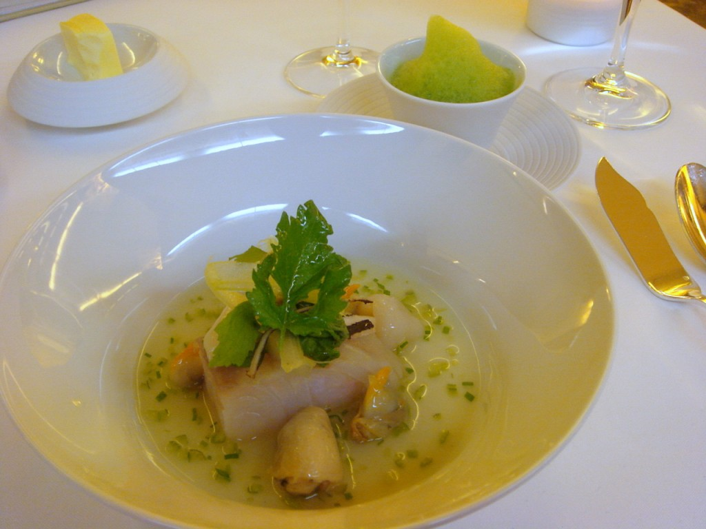 Pollock, scallops, sea urchin & oysters